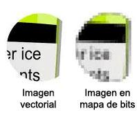 imagen vectorial comparada con mapa de bits