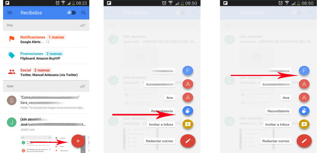 opcion enviar recordatorio Inbox by gmail