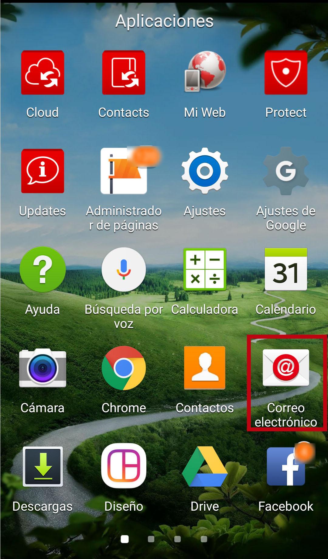 android configurar correo escritorio