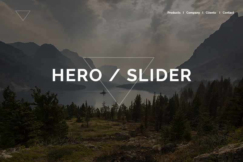 Tendencias diseño web para 2018 - Hero o Slider