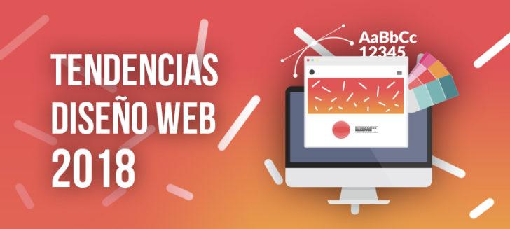 Tendencias diseño web para 2018