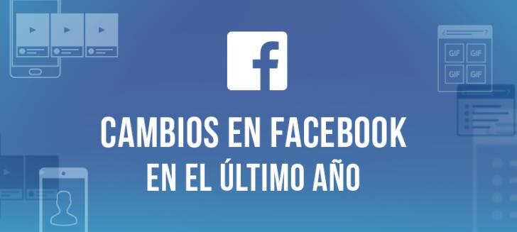Cambios en facebook en el último año