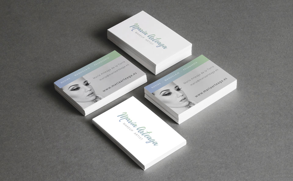 Diseño tarjetas Maria Arteaga