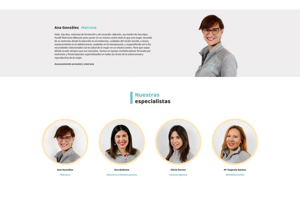 Fotografía corporativa para Matronas Albacete