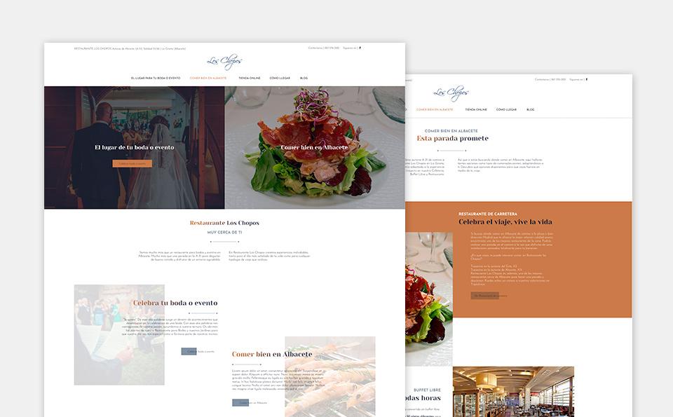 Diseño web Los Chopos