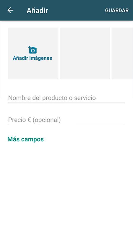 añadir productos al catálogo de whatsapp